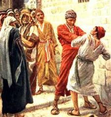 La generosità del padrone e la durezza del servo.